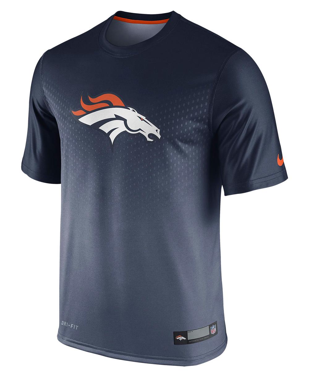 Kurzarm NFL Shirt Legend Denver Broncos Herren T Sideline KJTFcl13