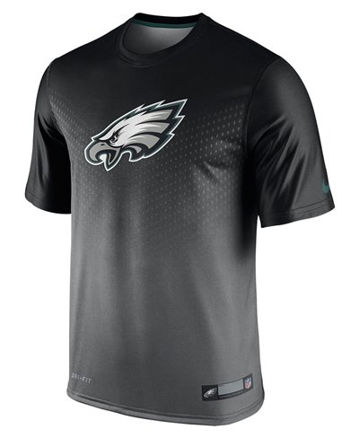 Herren Kurzarm T-Shirt Legend Sideline NFL Philadelphia Eagles