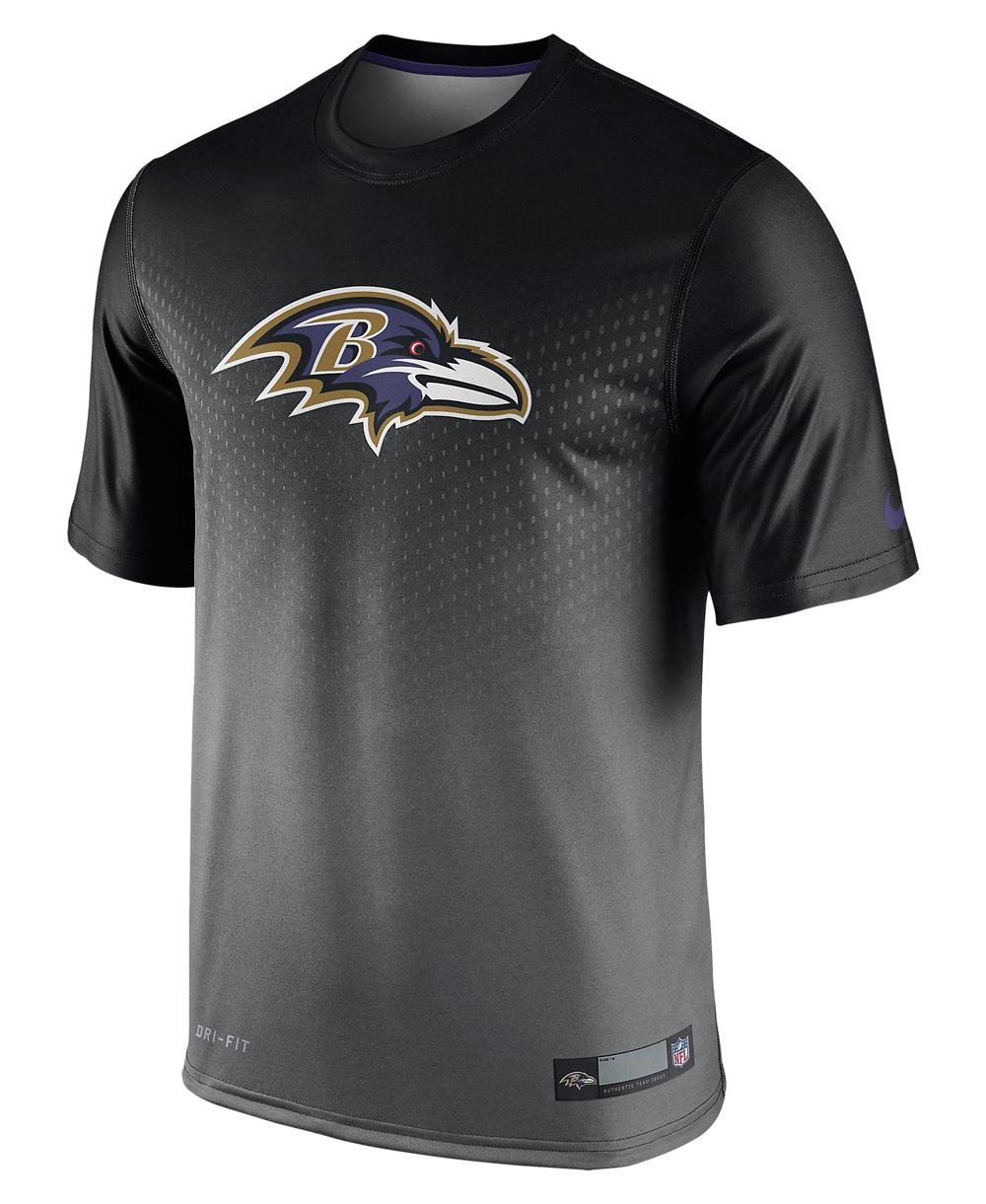 Herren Kurzarm T-Shirt Legend Sideline NFL Baltimore Ravens