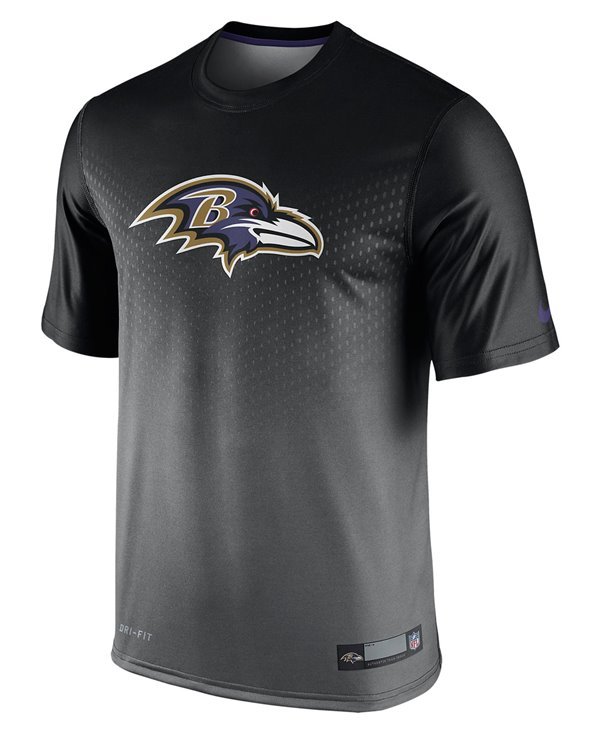 Men's Short Sleeve T-Shirt Legend Sideline NFL Baltimore Ravens