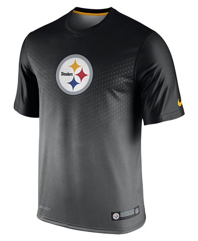 Herren Kurzarm T-Shirt Legend Sideline NFL Pittsburgh Steelers