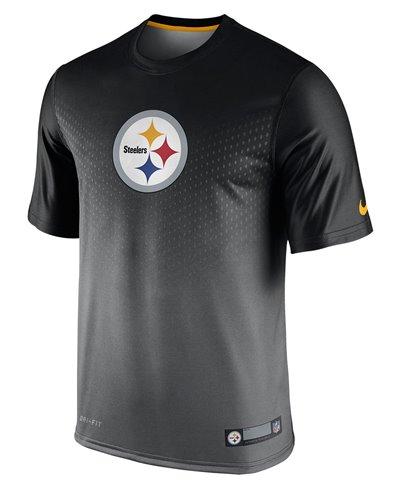 Herren Kurzarm T-Shirt Legend Sideline NFL Pittsburgh Steelers