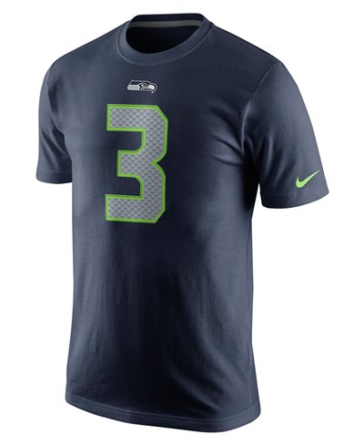 Player Pride Name and Number T-Shirt Manica Corta Uomo NFL Seahawks / Russell Wilson