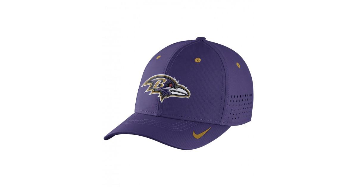 e642eae4b2f Nike Men s Cap Legacy Vapor Swoosh Flex NFL Ravens