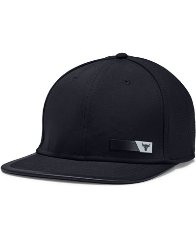 Men's Cap Project Rock ADH Flat Brim Black