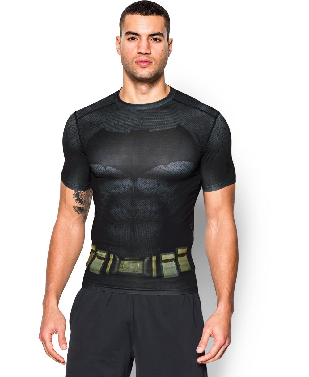 Alter Ego Herren Kurzarm Kompressions-Shirt  Batman