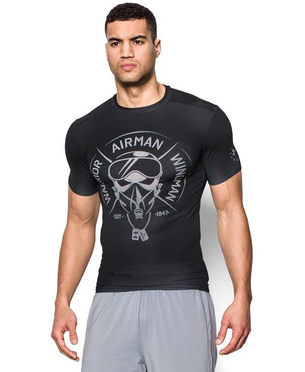 Freedom Air Force Herren Kurzarm Kompressions-Shirt