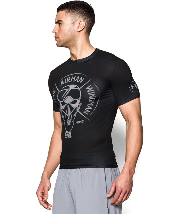 Freedom Air Force T-shirt Compression à Manches Courtes Homme