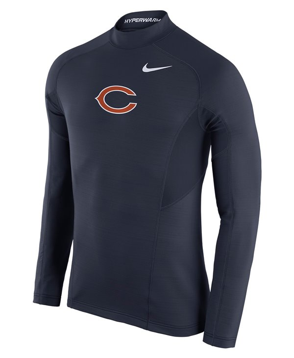 Pro Hyperwarm Max Fitted Men's Long Sleeve Compression Shirt NFL Bears