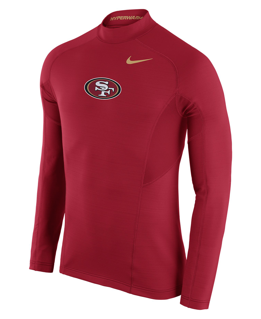Shirt Kompressions Pro 49ers Fitted Hyperwarm Herren Max Langarm NFL eH92IWYED