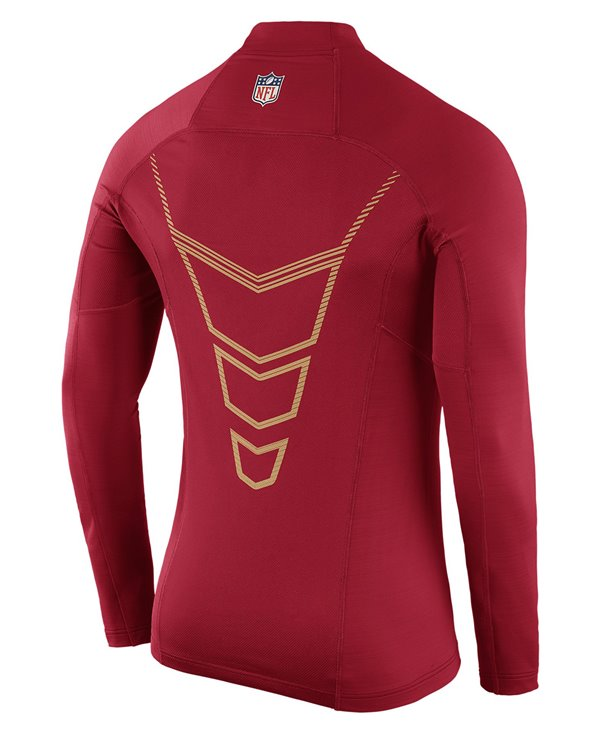 Pro Hyperwarm Max Fitted Men's Long Sleeve Compression Shirt NFL 49ers
