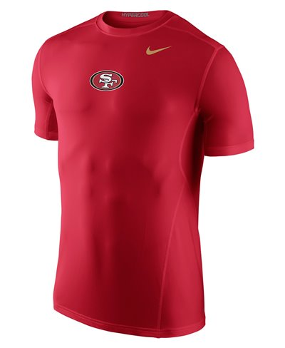 Hypercool Fitted Men's Long Sleeve Compression Shirt NFL 49ers