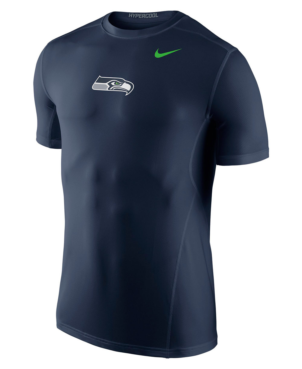 Hypercool Fitted Maglia Compressione Uomo Manica Lunga NFL Seahawks