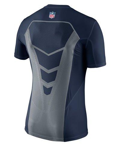 Hypercool Fitted Herren Langarm Kompressions-Shirt  NFL Seahawks