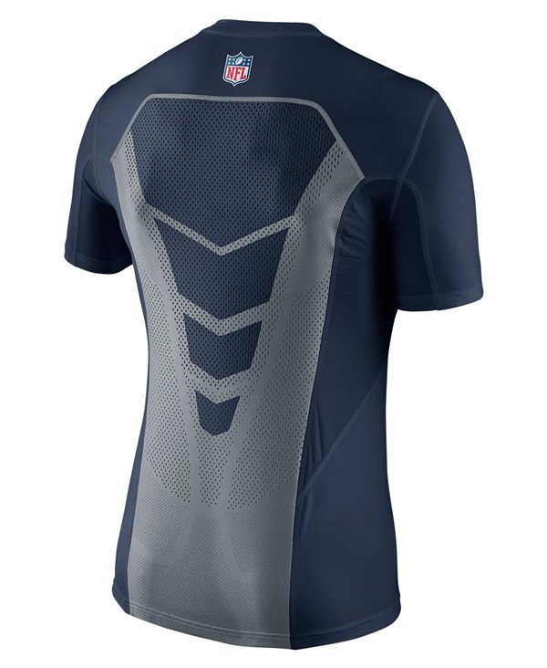 Hypercool Fitted T-shirt Compression à Manches Longues Homme NFL Seahawks