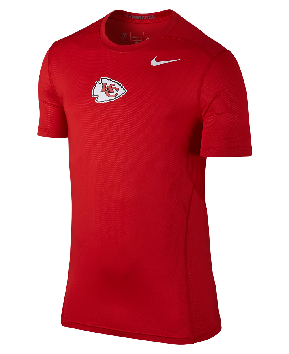 36a5b32cb5 Nike Pro Hypercool Fitted Men's Long Sleeve Compression Shirt NFL C...