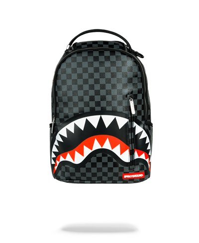 Sleek Sharks in Paris Backpack Grey