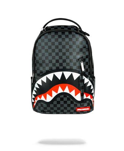 Sleek Sharks in Paris Backpack Grey