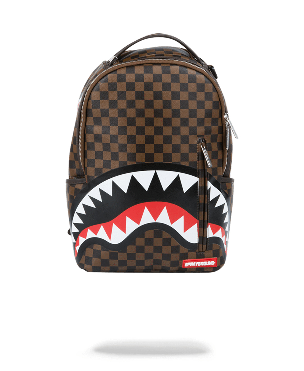 Sleek Sharks in Paris Backpack Brown