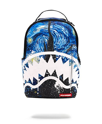 The Van Gogh Shark Backpack