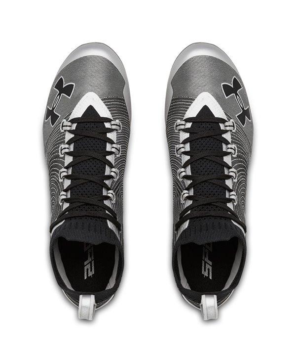 Spotlight MC Zapatos de Fútbol Americano para Hombre Metallic Silver