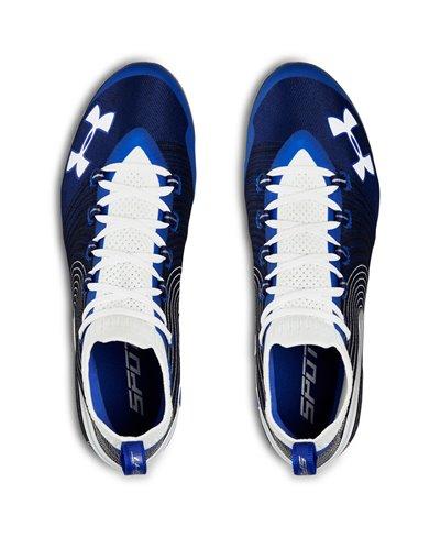 Spotlight MC Zapatos de Fútbol Americano para Hombre Team Royal/White