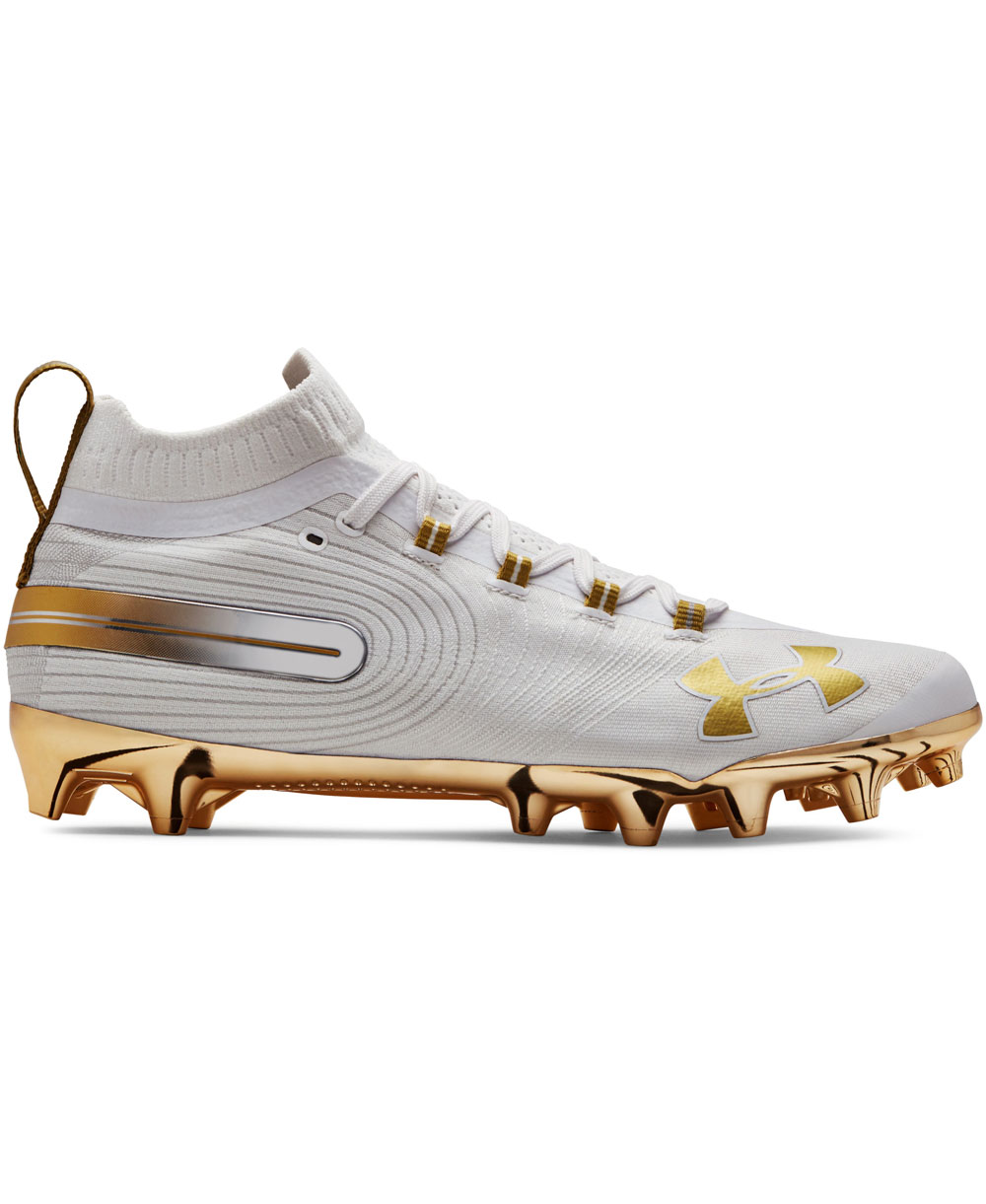 b5bfe8dcd93 Under Armour Men s Spotlight MC American Football Cleats White Gold