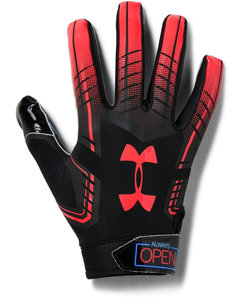 Under Armour F6 Novelty Men s Football Gloves Black 001 a303f90df3