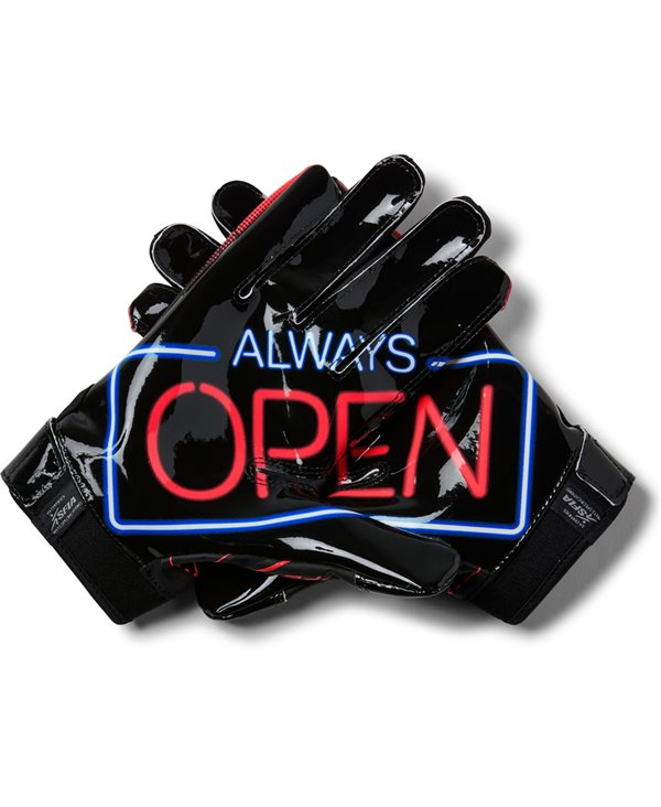 F6 Novelty Men's Football Gloves Black 001
