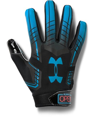F6 Novelty Herren American Football Handschuhe Black 002