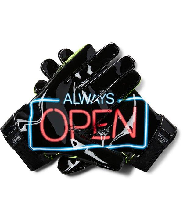 F6 Novelty Herren American Football Handschuhe Black 003