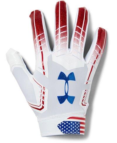 F6 Novelty Guantes Fútbol Americano para Hombre White 101
