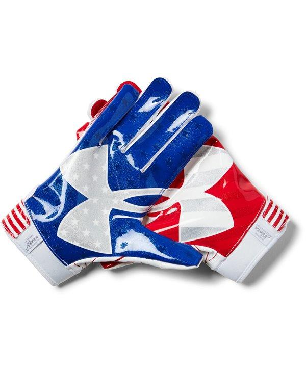 F6 Novelty Men's Football Gloves White 101
