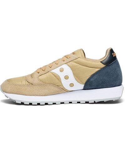 Men's Jazz Original Sneakers Shoes Tan/Navy
