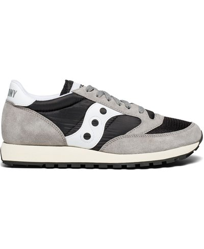Herren Sneakers Jazz Original Vintage Schuhe Grey/Black/White