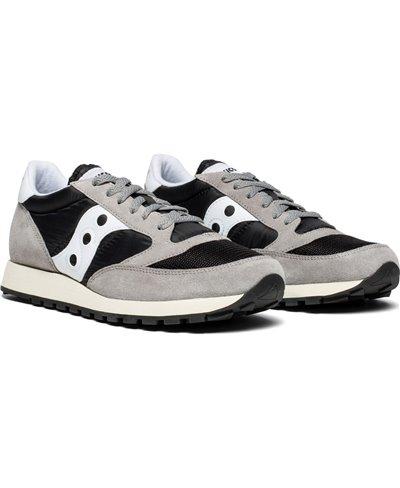 Herren Sneakers Jazz Original Vintage Schuhe Grey/Black/White