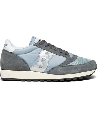 Herren Sneakers Jazz Original Vintage Schuhe Grey/Blue/White