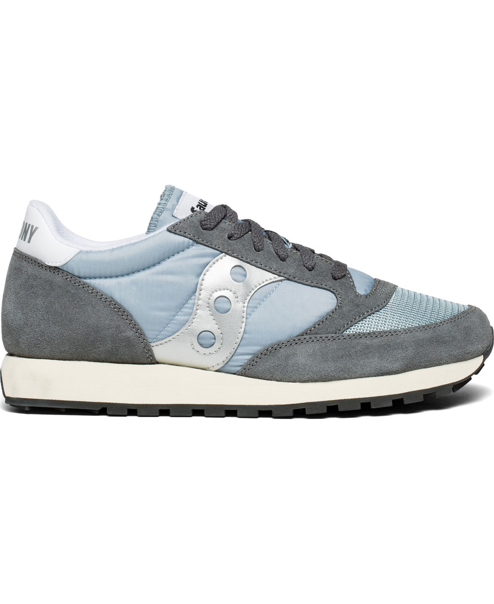 Saucony Jazz grey suede and nylon sneaker