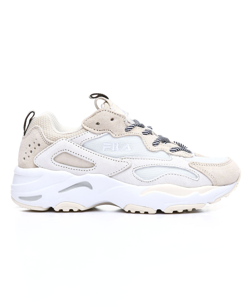 Dettagli su Fila - Ray Tracer Scarpe Sneakers Donna Beige