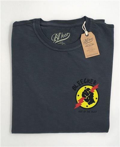 Men's Short Sleeve T-Shirt Lightning Faded Black
