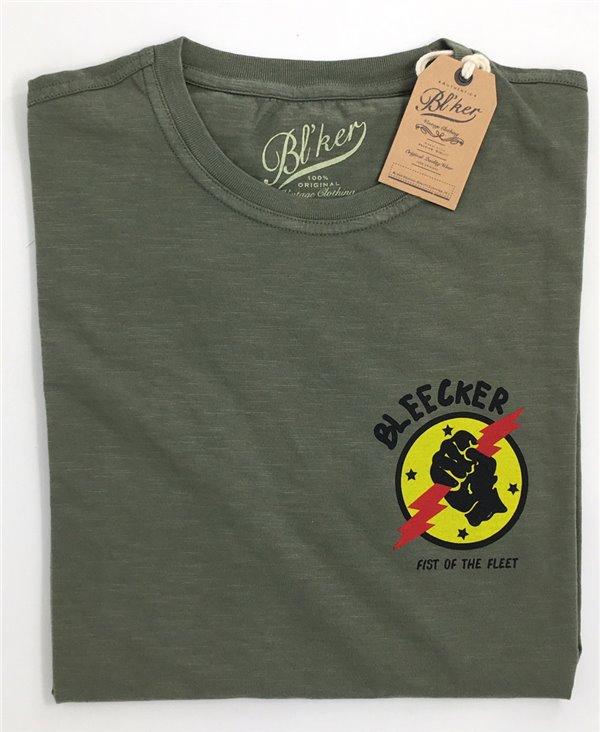 Men's Short Sleeve T-Shirt Lightning Military Green