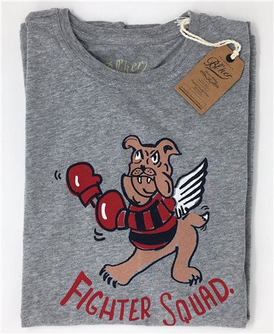 Men's Short Sleeve T-Shirt Fighter Squad Grey Melange