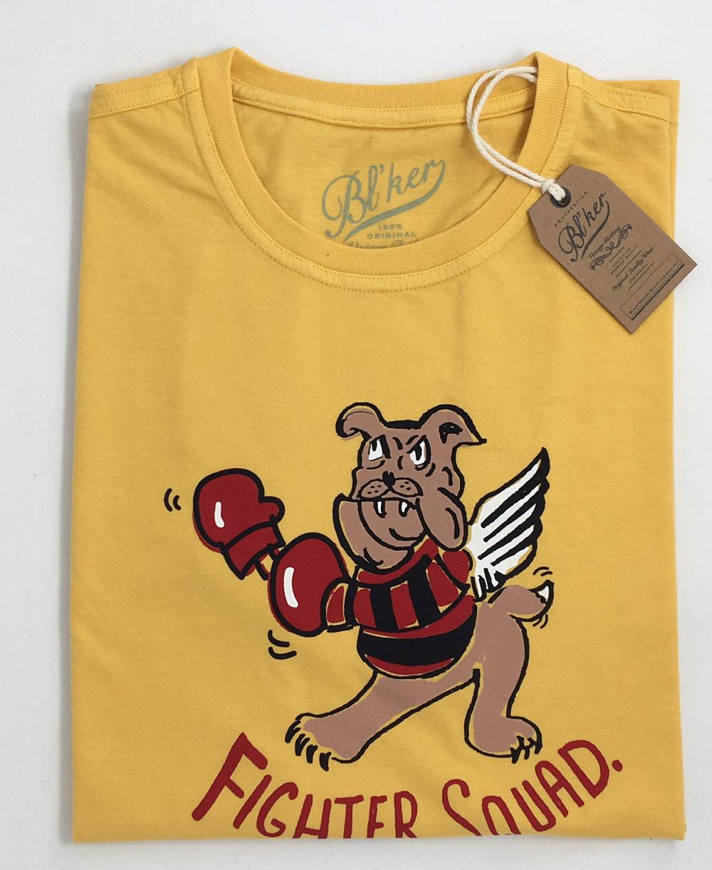 Fighter Squad T-Shirt à Manches Courtes Homme Yellow