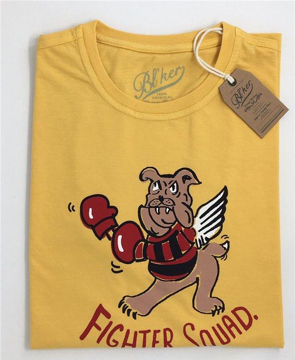 Men's Short Sleeve T-Shirt Fighter Squad Yellow