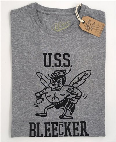 USS Bleecker T-Shirt Manica Corta Uomo Grey Melange