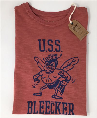 Herren Kurzarm T-Shirt USS Bleecker Red