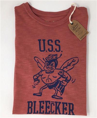 USS Bleecker Camiseta Manga Corta para Hombre Red