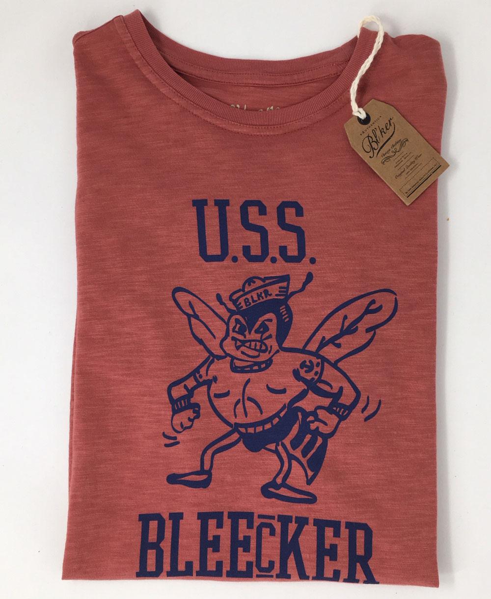 Men's Short Sleeve T-Shirt USS Bleecker Red