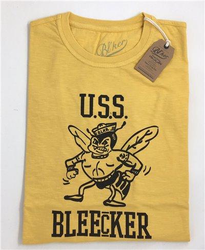 Men's Short Sleeve T-Shirt USS Bleecker Yellow