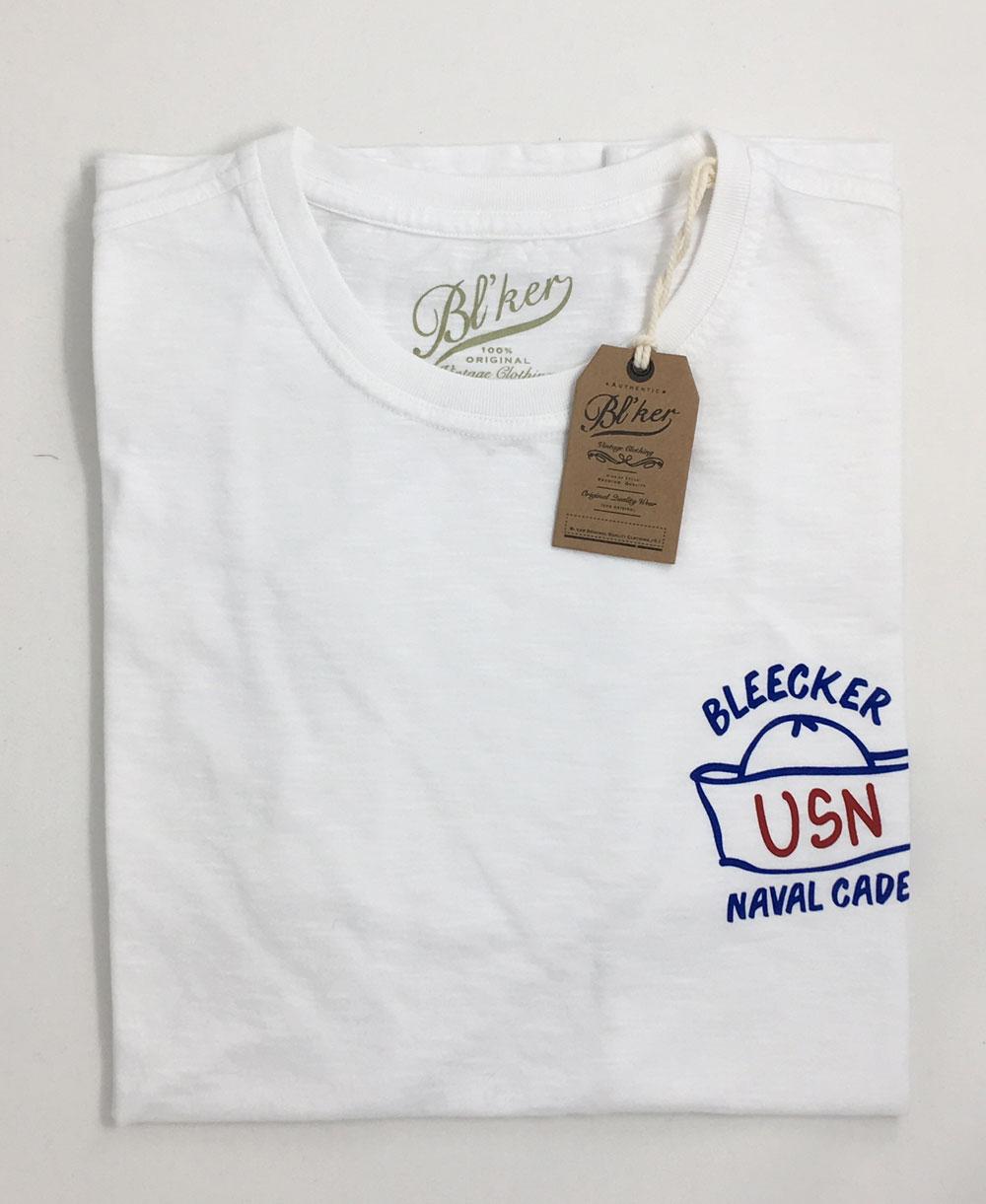 Navy Hat Camiseta Manga Corta para Hombre White